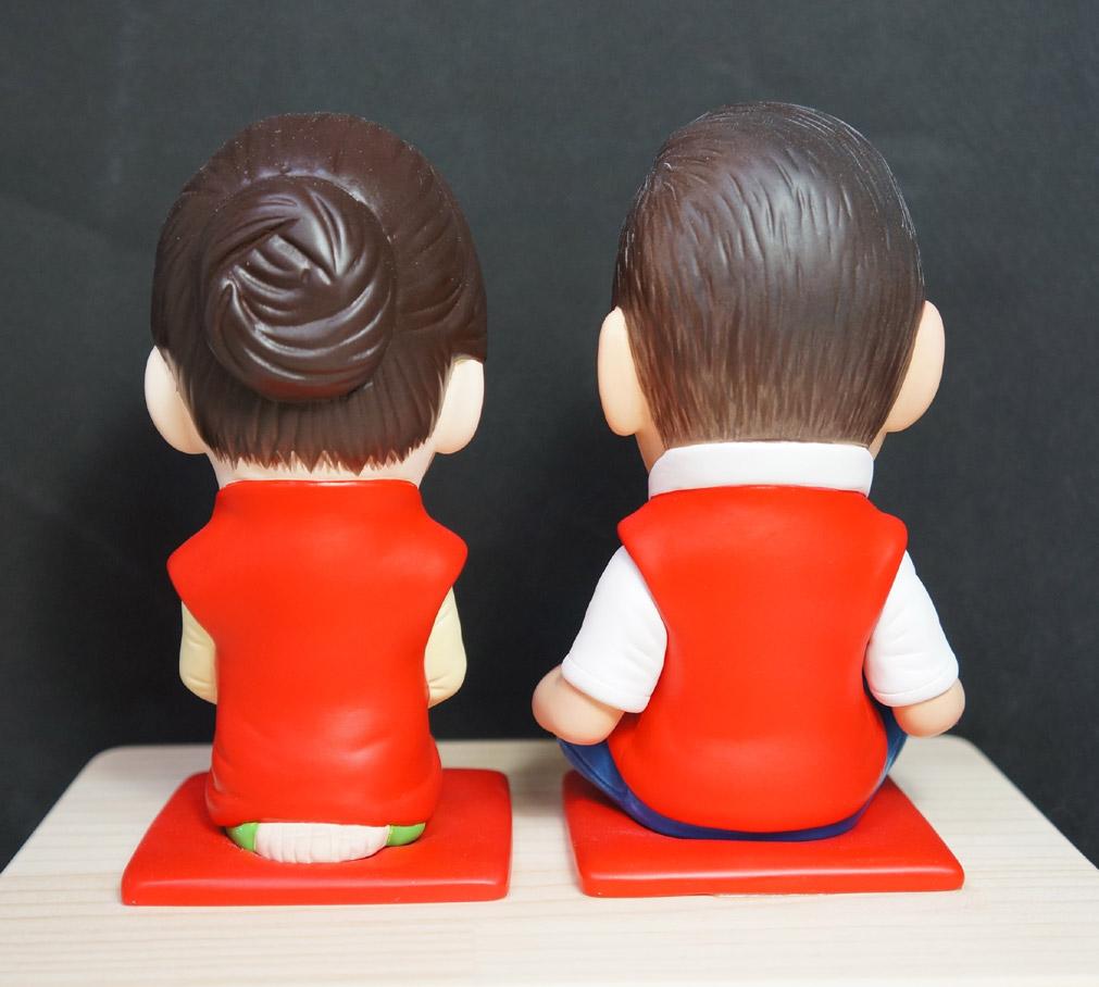 還暦のお祝い(赤い座布団&ちゃんちゃんこ)-そっくり人形参考作品例-62-4