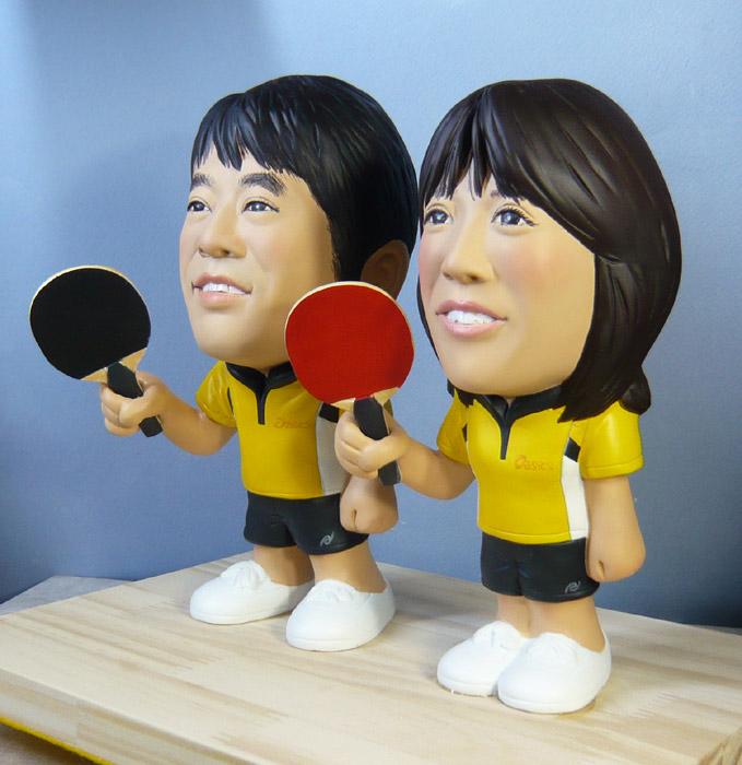 ウェルカムドール・お揃いの卓球ウェアで!!-そっくり人形参考作品例-63-3