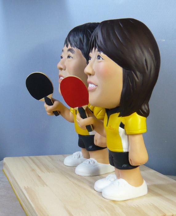 ウェルカムドール・お揃いの卓球ウェアで!!-そっくり人形参考作品例-63-4